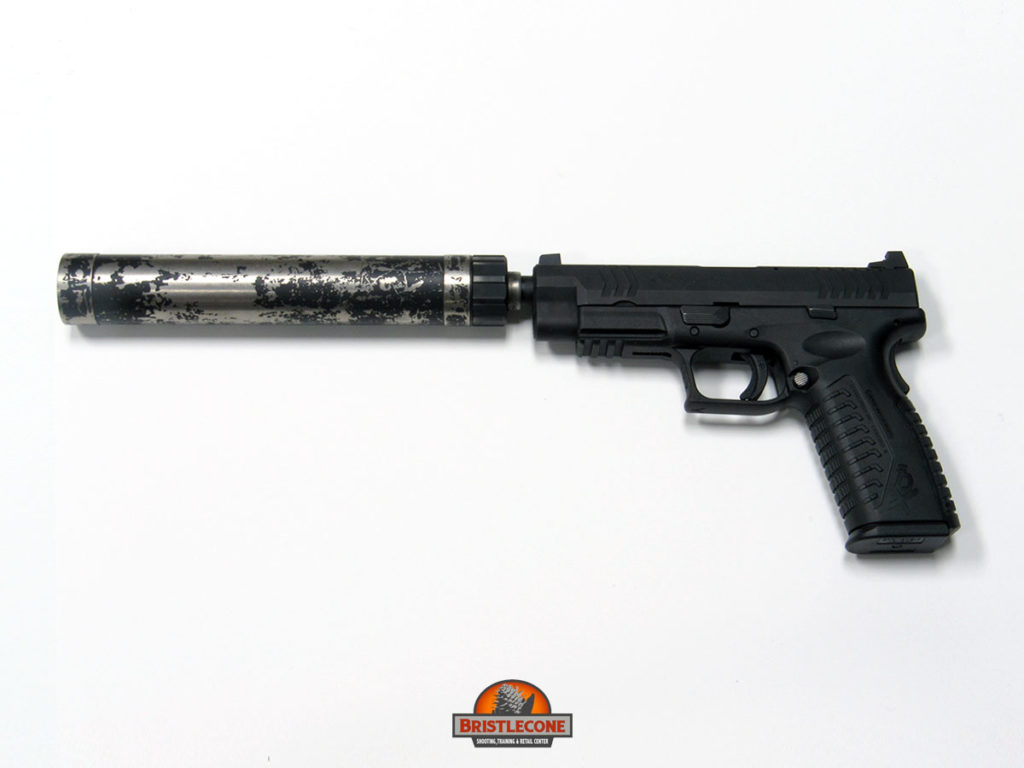 "Suppressed Springfield Armory XD-M 4.5"", .45 ACP"